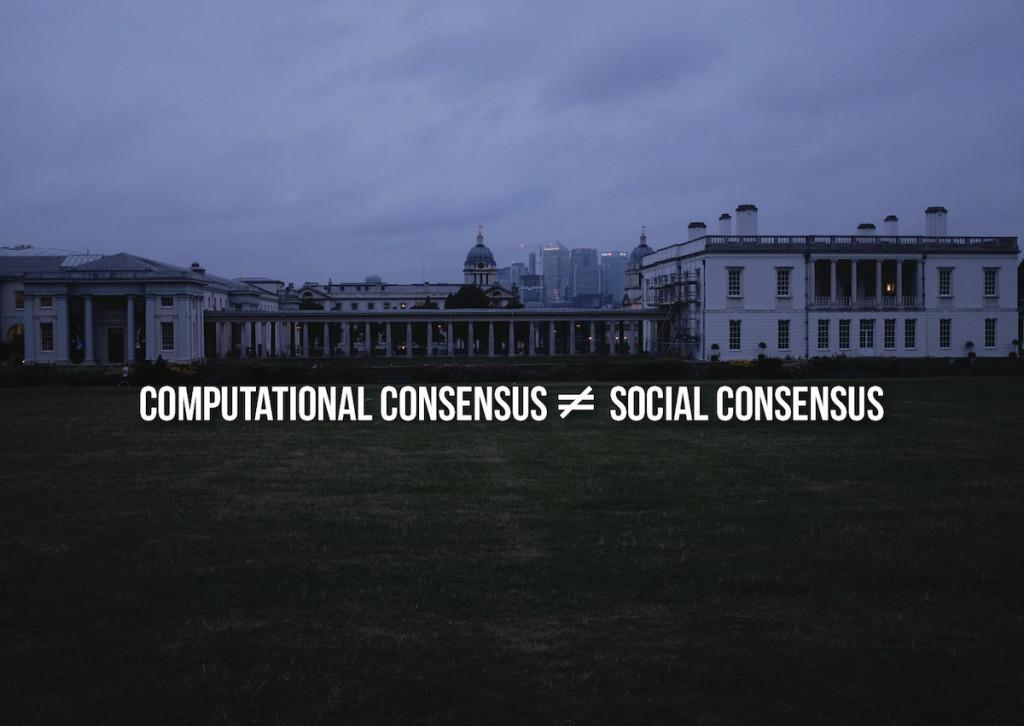 computational consensus ≠ social consensus